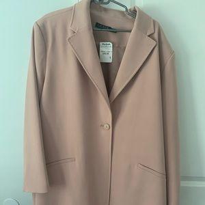 Blush Pink Blazer Coat